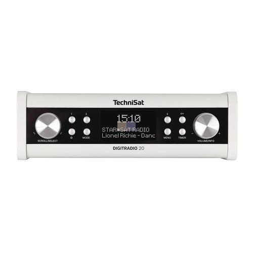 Klick zeigt Details von Uhrenradio TechniSat 0001/4987 DigitRadio 20 weiß Unterbau