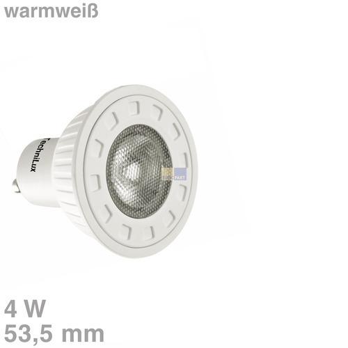 Klick zeigt Details von LED-Lampe GU10 4W warmweiß matt 30°Abstrahlwinkel