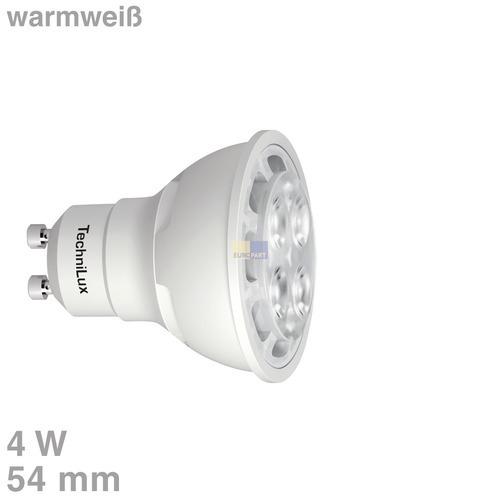 Klick zeigt Details von LED-Lampe GU10 4W warmweiß matt 35°Abstrahlwinkel dimmbar