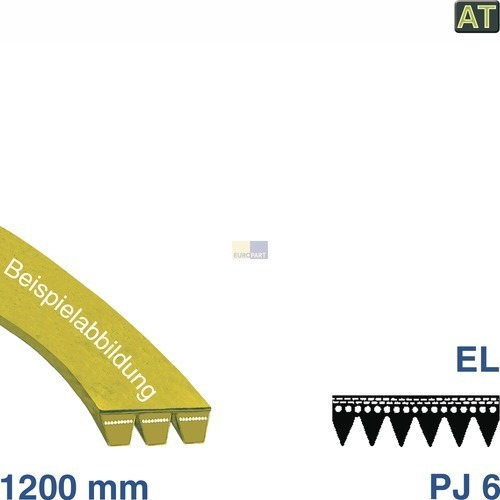 Riemen 1200 PJ 6 EL AT! NF! Neff AEG Siemens Bosch Zanussi Electrolux Privileg Zanker Philips Küppersbusch Seppelfricke Juno Quelle Matura Campus Silentic Siltal Lunik Lloyds Marijnen Zoppas Faure