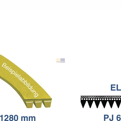 Riemen 1280 PJ 6 EL AEG Zanussi Electrolux Privileg Zanker Quelle Matura Elektra Curtiss Far Urania Selecline Marijnen Zoppas Faure Blanco Atlas Satrap Lux Seaway Arthur Husqvarna Castor Corbero