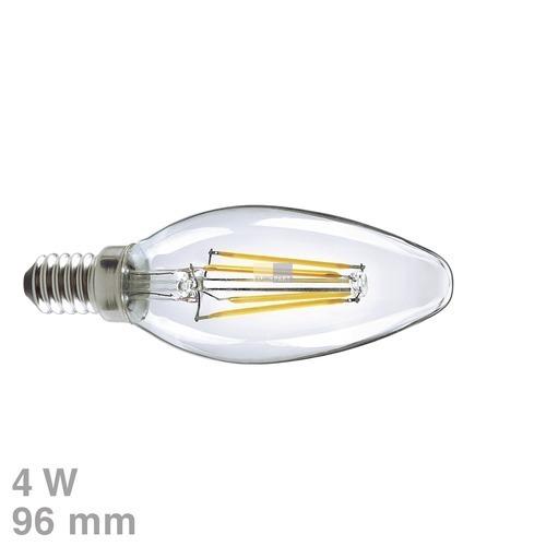 Klick zeigt Details von LED-Lampe E14 4W Candle warmweiß klar