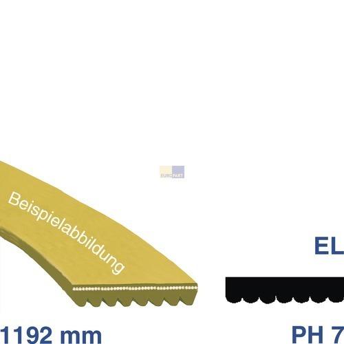 Klick zeigt Details von Keilrippenriemen Riemen Waschmaschine 1192PH7EL 129077550 1192 PH 7 EL AEG