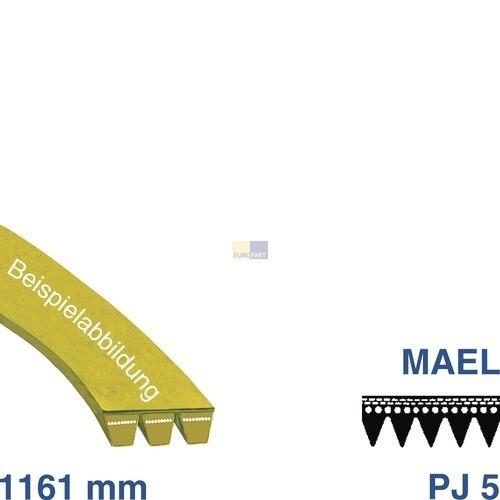Klick zeigt Details von Keilrippenriemen 1161 PJ 5 E SIEMENS 00351834 Alternative für Waschmaschine