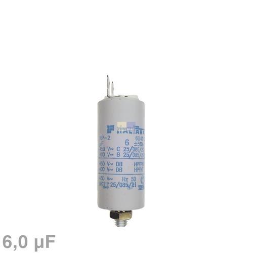 Klick zeigt Details von Kondensator 6,00µF 450V mit Steckfahnen