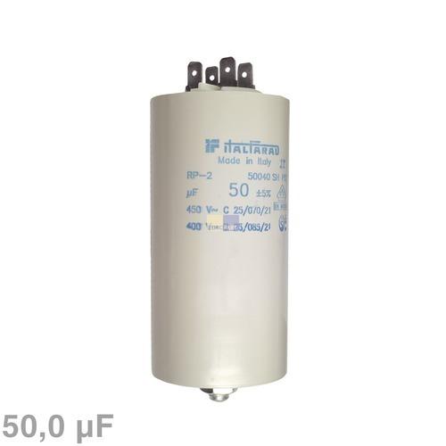 Klick zeigt Details von Kondensator 50,00µF 450V mit Steckfahnen