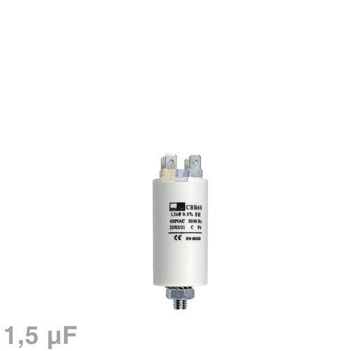 Klick zeigt Details von Kondensator 1,50µF 450V mit Steckfahnen für Waschmaschine elektrische Hausgeräte