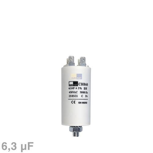 Klick zeigt Details von Kondensator 6,30µF 450V mit Steckfahnen
