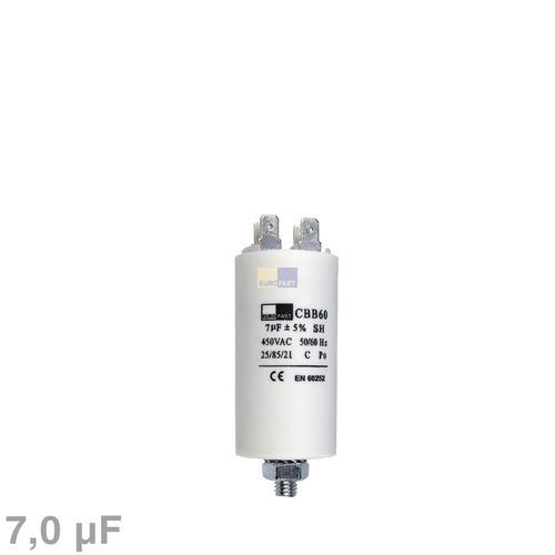 Klick zeigt Details von Kondensator 7,00µF 450V mit Steckfahnen