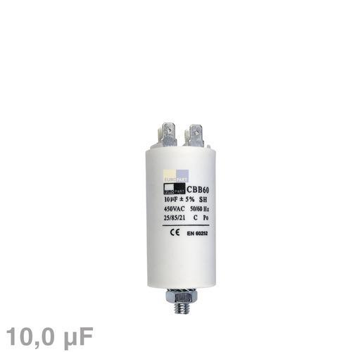 Klick zeigt Details von Kondensator 10,00µF 450V mit Steckfahnen