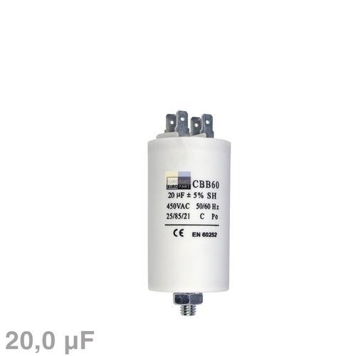 Kondensator 20,00µF 450V mit Steckfahnen