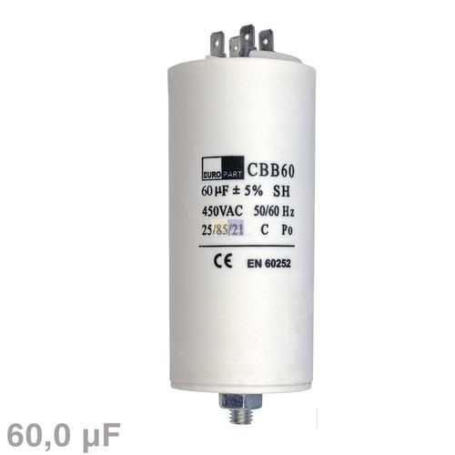 Klick zeigt Details von Kondensator 60,00µF 450V mit Steckfahnen