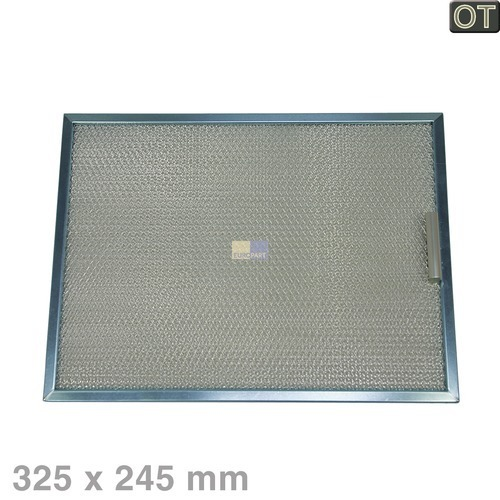Klick zeigt Details von Fettfilter eckig Metall 325x245mm