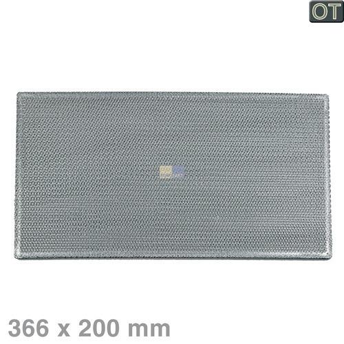 Klick zeigt Details von Fettfilter eckig Metall 366x200mm