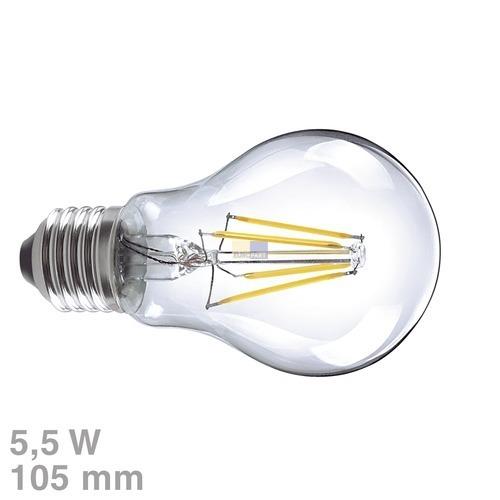 Klick zeigt Details von LED-Lampe E27 5,5W warmweiß klar