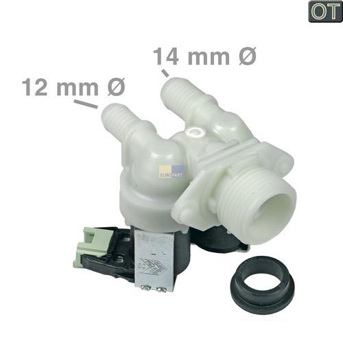 Klick zeigt Details von Magnetventil 2-fach 180° 12,0mm+14,0mmØ, OT!