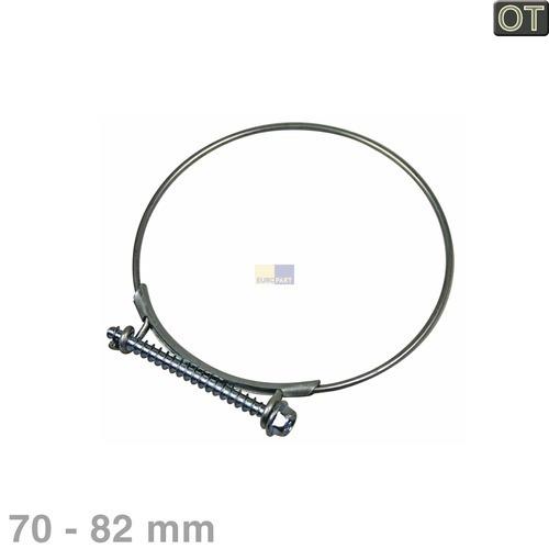 Klick zeigt Details von Schlauchschelle 82mmØ  für Einlaufschlauch AEG