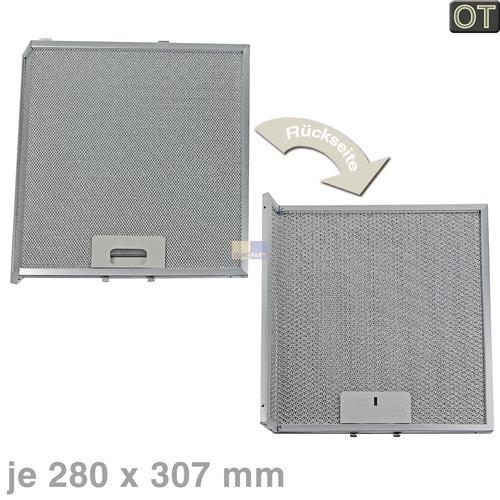 Klick zeigt Details von Fettfilter eckig Metall 307x280mm, 2 Stück