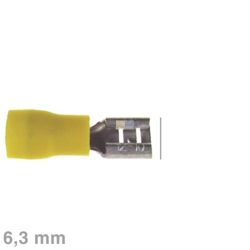 Klick zeigt Details von Flachsteckhülse gelb 6,3mm