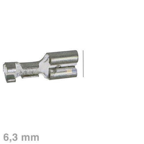 Klick zeigt Details von Flachsteckhülse blank verzinnt