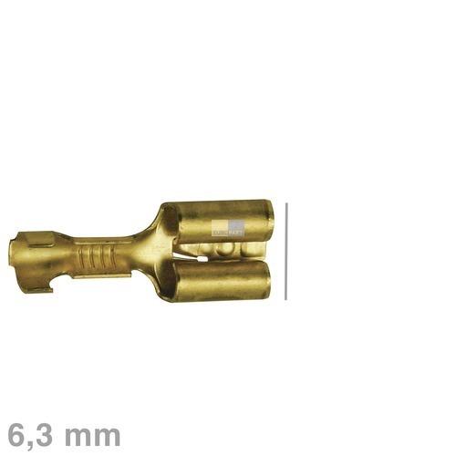 Klick zeigt Details von Flachsteckhülse blank 6,3mm