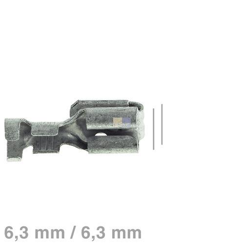Klick zeigt Details von Doppelsteckhülse blank 6,3mm