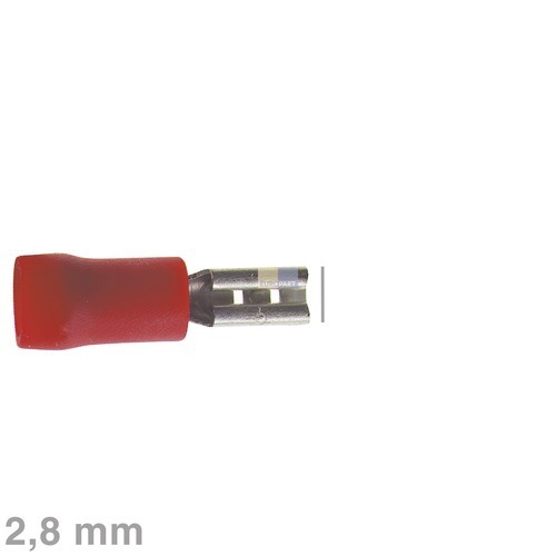 Klick zeigt Details von Flachsteckhülse rot 2,8mm