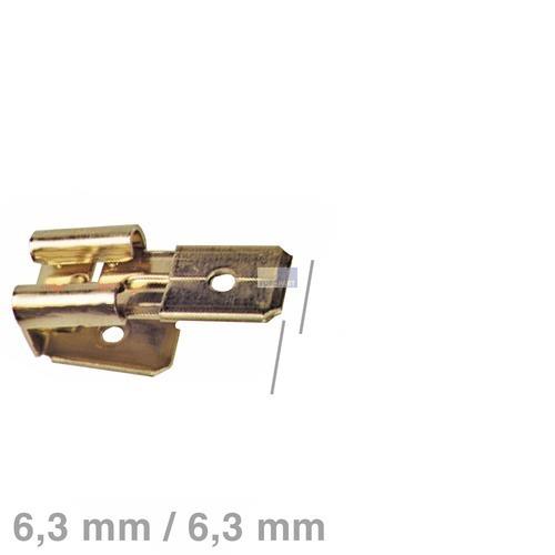 Klick zeigt Details von Doppelsteckadapter blank 6,3mm Siemens Bosch Gaggenau