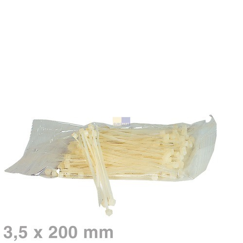 Klick zeigt Details von Kabelbinder 3,6x200mm natur