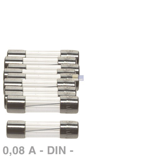 DIN-Sicherung 0,08A, 10 Stück