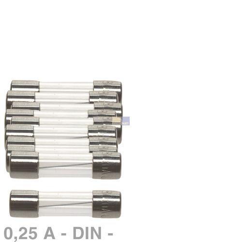 Klick zeigt Details von DIN-Sicherung 0,25A, 10 Stück