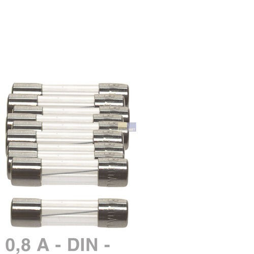 Klick zeigt Details von DIN-Sicherung 0,8A, 10 Stück