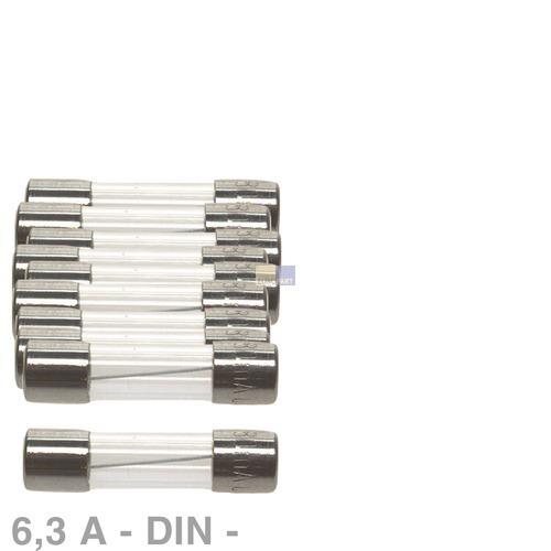 Klick zeigt Details von DIN-Sicherung 6,3A, 10 Stück Moulinex Spidem Saeco