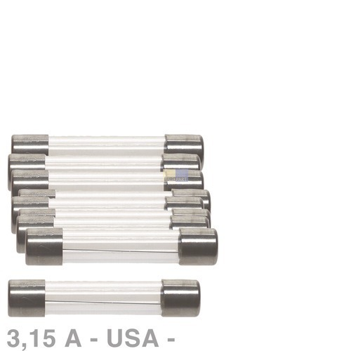 Klick zeigt Details von USA-Sicherung 3,15A, 10 Stück