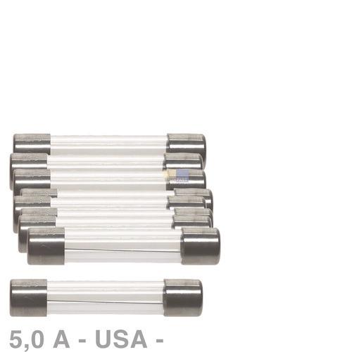 USA-Sicherung 5,0A, 10 Stück