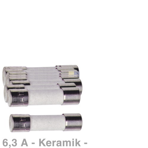 Klick zeigt Details von Keramik-Sicherung 6,3A, 10 Stück