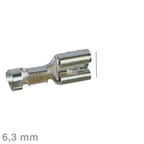 Klick zeigt Details von Flachsteckhülse Stahl 6,3mm