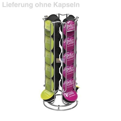 Klick zeigt Details von Kaffeekapsel-Ständer für DolceGusto-Kapseln, Drehständer