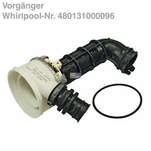 Schlauch Pumpengehäuse Geschirrspüler passend wie Whirlpool Ikea 480140100778
