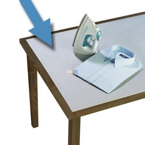 Klick zeigt Details von Tischbügeldecke 125x75cm Alu