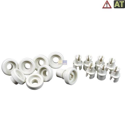 Klick zeigt Details von 8 x Korbrolle wie AEG 502699700-5 Spülmaschine Rolle Oberkorb Alno Elektrolux