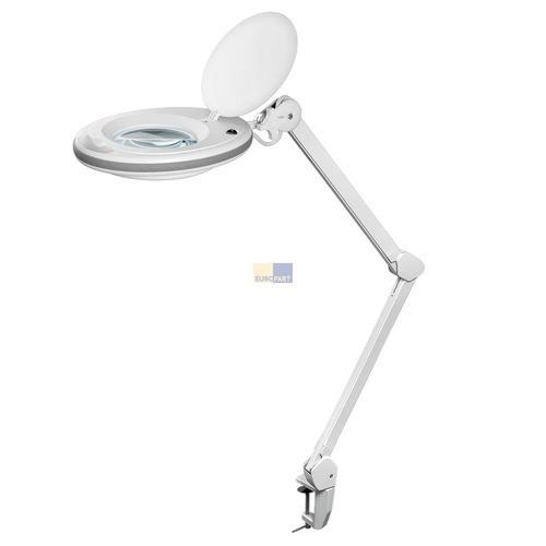 Klick zeigt Details von LED-Lupenleuchte mit Klemmhalterung