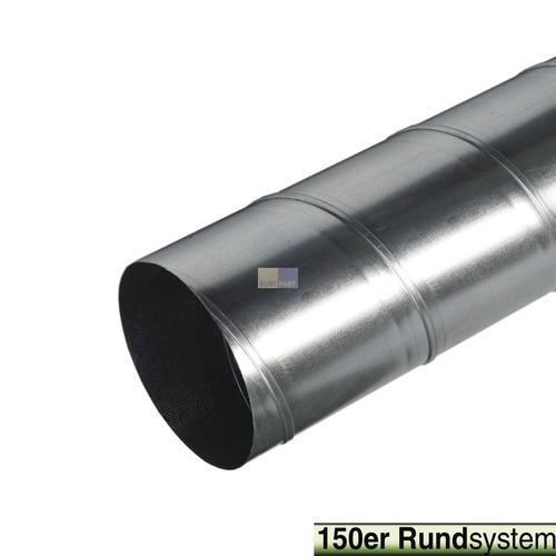 Klick zeigt Details von Rohr 150erR 1000mm Wickelfalzrohr Alu fest