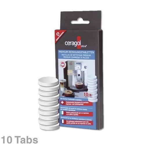 Klick zeigt Details von Kaffeemaschinen-Reiniger Tabs Ceragol, 10 Stück