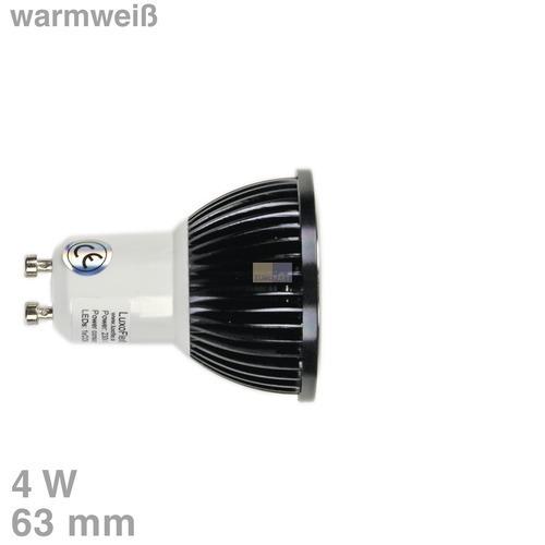 Klick zeigt Details von LED-Lampe GU10 4W warmweiß 90°Abstrahlwinkel