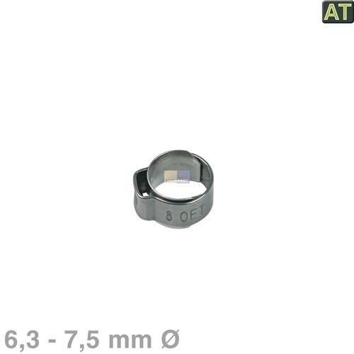Klick zeigt Details von 1-Ohr-Schelle 6,3 - 7,5mmØ blank Philips Saeco NF11.052  996530059178 Alternative
