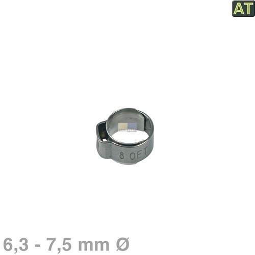 1-Ohr-Schelle 6,3 - 7,5mmØ blank Philips Saeco NF11.052  996530059178 Alternative
