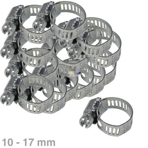 Klick zeigt Details von Schlauchschelle 10-17mmØ Chromstahl 100Stk
