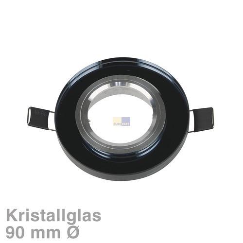 Klick zeigt Details von Lampenhalter Rund Schwarz, Kristallglas