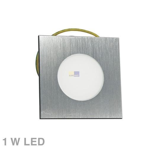 Klick zeigt Details von Lampenhalter 4-eckig Eisen gebürstet Rutec 58285WW Alu